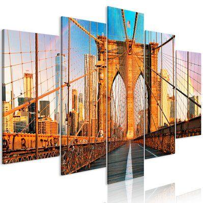 Artgeist 100x50 - Tableau - Bridge to Happiness (5 Parts) Wide