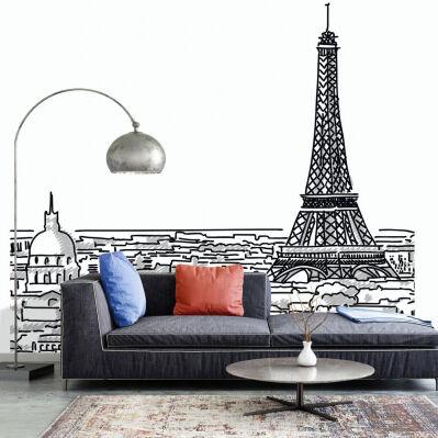 99 Deco Papier peint panoramique 5 lés PARIS MY LOVE L 240 x H 270 cm