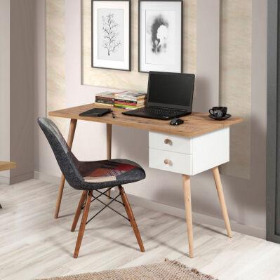 Noname Bureau Balbina - 120 x 77 x 60 cm - pin & blanc