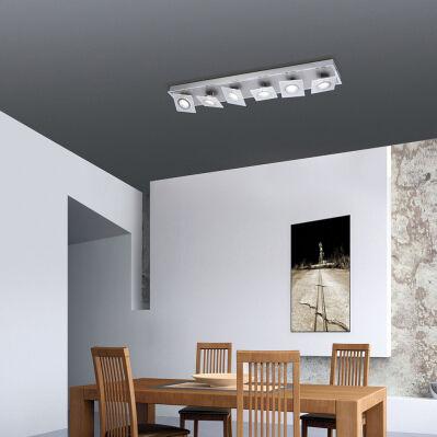 Paul Neuhaus Plafonnier LED - 79 x 15 cm - aluminium