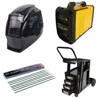 Silex Pack poste à souder MMA IGBT/inverter 160A + cagoule V-max + chariot 4 tiroirs + 50 électrodes Silex ®