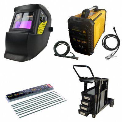 Silex Pack poste à souder MMA IGBT/inverter 200A + cagoule 100KNO +chariot 4 tiroirs + 50 électrodes Silex ®