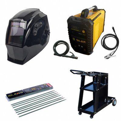 Silex Pack poste à souder MMA IGBT/inverter 200A + cagoule VMAX + chariot + 50 électrodes Silex ®
