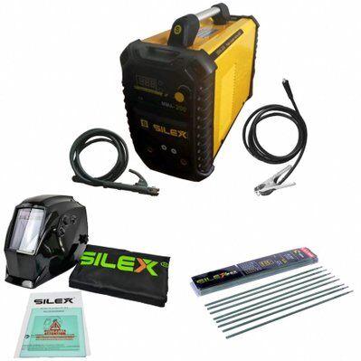 Silex Pack poste à souder MMA IGBT/inverter 200A + cagoule de soudure V-max + 50 électrodes Silex ®