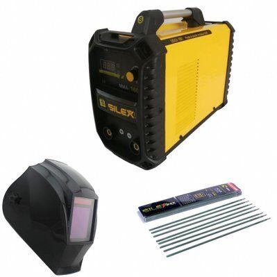 Silex Pack poste à souder MMA IGBT/inverter 160A + cagoule de soudure V-max + 50 électrodes Silex ®