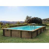 Habitat & Jardin Piscine bois en kit rectangle 'Sunrise ' - 8.20 x 5.20 x 1.44 m <br /><b>10867.39 EUR</b> Bricoprive.com