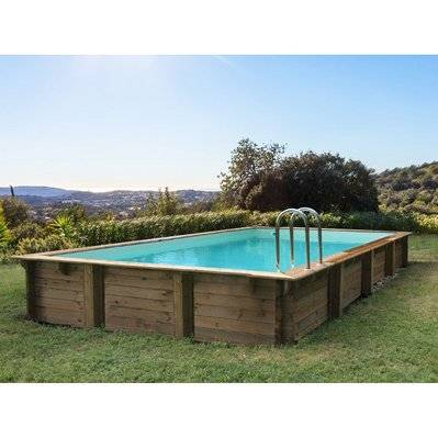 "Habitat & Jardin Piscine bois en kit rectangle ""Sunrise "" - 8.20 x 5.20 x 1.44 m"
