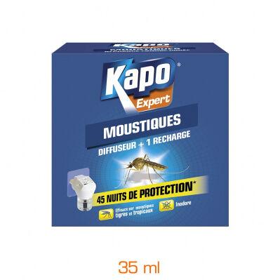 Kapo Diffuseur anti-moustiques liquide avec 1 recharge - 35 mL