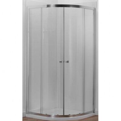Jacob Delafon Porte coulissante quart de rond SERENITY - 80 x 80 cm - traitement anti-calcaire - verre transparent