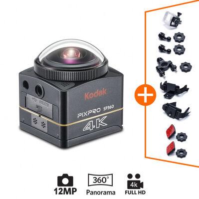 Kodak Caméra PIXPRO ACTION CAM Kodak SP360 4K- 360° - Explorer Pack + accessoires