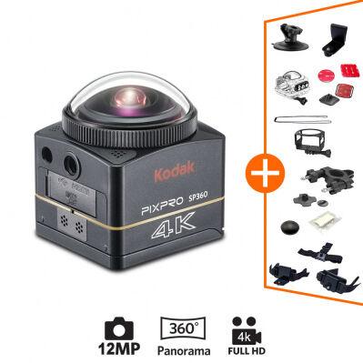 Kodak Caméra PIXPRO ACTION CAM Kodak SP360 4K- 360° - Extreme Pack + accessoires