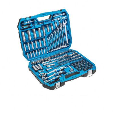 Högert Coffret de douilles, clés à cliquet et accessoires - 1/2', 1/4' et 3/8' - 222 pièces