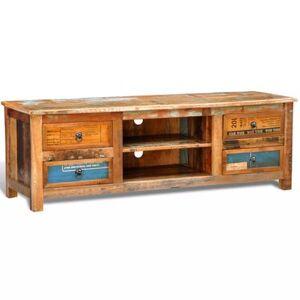 Helloshop26 Meuble télé buffet tv télévision design pratique vintage multicolore 4 tiroirs 2502301 - Publicité