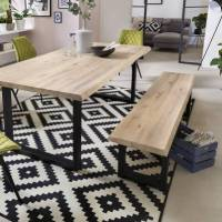 Tables Massives Industrielles Banc Tristan - 180 x 45 x 38 cm - pieds 'U' - chêne massif <br /><b>449.99 EUR</b> Bricoprive.com