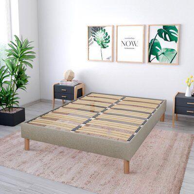 NUIT DE COTON   Sommier en kit Lino   beige   160x200 cm