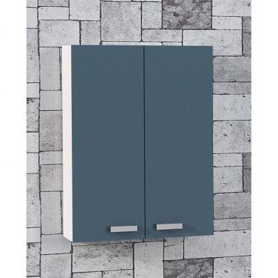 Bianco Armoire suspendue - 54 cm - 2 portes - bleu mat