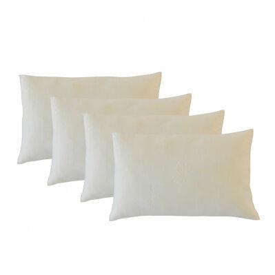 Bellecour Pack de 4 oreillers ALOE VERA à mémoire de forme - blanc