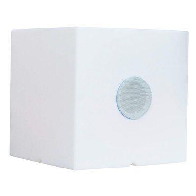 Lumisky Cube enceinte bluetooth CARRY PLAY blanc plastique H40cm