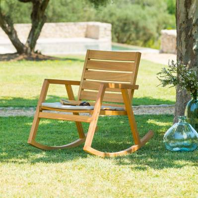 Hesperide Rocking chair ESTIVA - 92 x 68 x 86,5 cm - eucalyptus