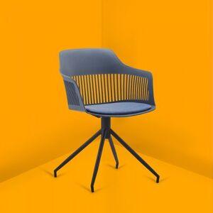 Concept Usine Anaïs - Chaise design avec accoudoirs bleu foncé - Publicité