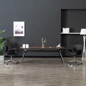 vidaXL Chaise pivotante de bureau Noir Similicuir - Publicité