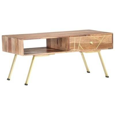 vidaXL Table basse 95x50x42 cm Bois massif