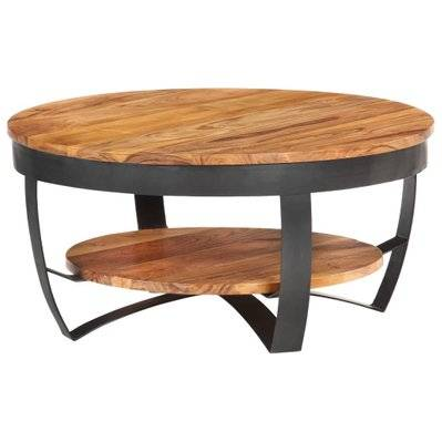 vidaXL Table basse 65x65x32 cm Bois d'acacia solide