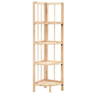 Helloshop26 Étagère armoire meuble design étagère d'angle bois de cèdre 110 cm 2702056/2