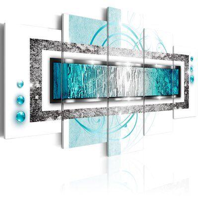 Artgeist 200x100 - Tableau - Blizzard turquoise
