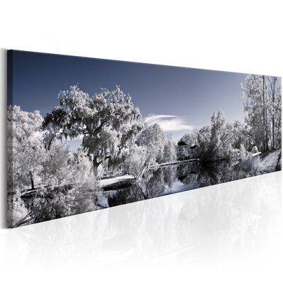 Artgeist 135x45 - Tableau - Wintry Lake