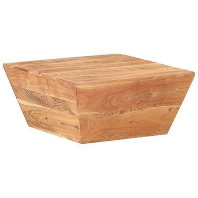vidaXL Table basse en forme de V 66x66x30 cm Bois d'acacia massif