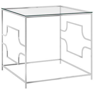 vidaXL Table basse 55x55x55 cm Acier inoxydable