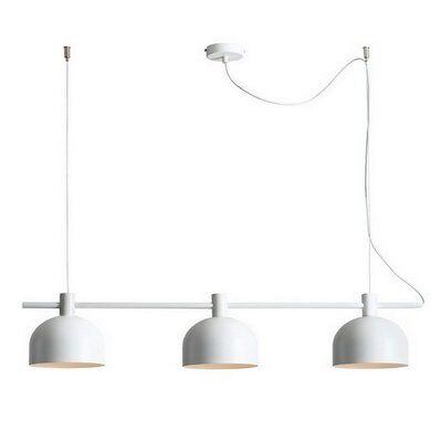 Homemania Lampe à Suspension Mecha - Plafonnier - Murale - con Blanc en Métal, 83 x 15 x 86 cm, 3 x E27, Max 60 W