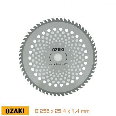 Ozaki Lame 60 dents à pointes carbure - 255 x 25,4 x 1,4mm