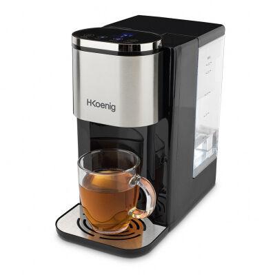 H.koenig Distributeur d'eau chaude 2,2L - 2600W - affichage LED + touches sensitives - noir