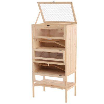 Pawhut Cage pour hamster souris petits rongeurs 5 étages