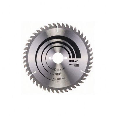 Bosch Lame de scie circulaire BOSCH Ø190 x 30mm - 48 dents - ATB Optiline Wood