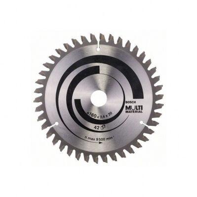 Bosch Lame de scie circulaire BOSCH Ø160 x 20mm - 42 dents - HLTCG Multi Material