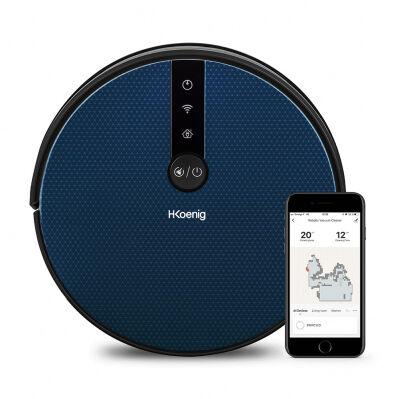 Brico Privé Aspirateur robot WaterMop Gyro+ - Wifi - 100 min - écran LCD - détection du vide + des obstacles - accessoires