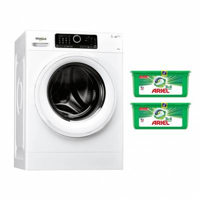 Whirlpool Lave-linge frontal WHIRLPOOL - 9kg - 1 400 tours/min - classe A+++ -20% - blanc