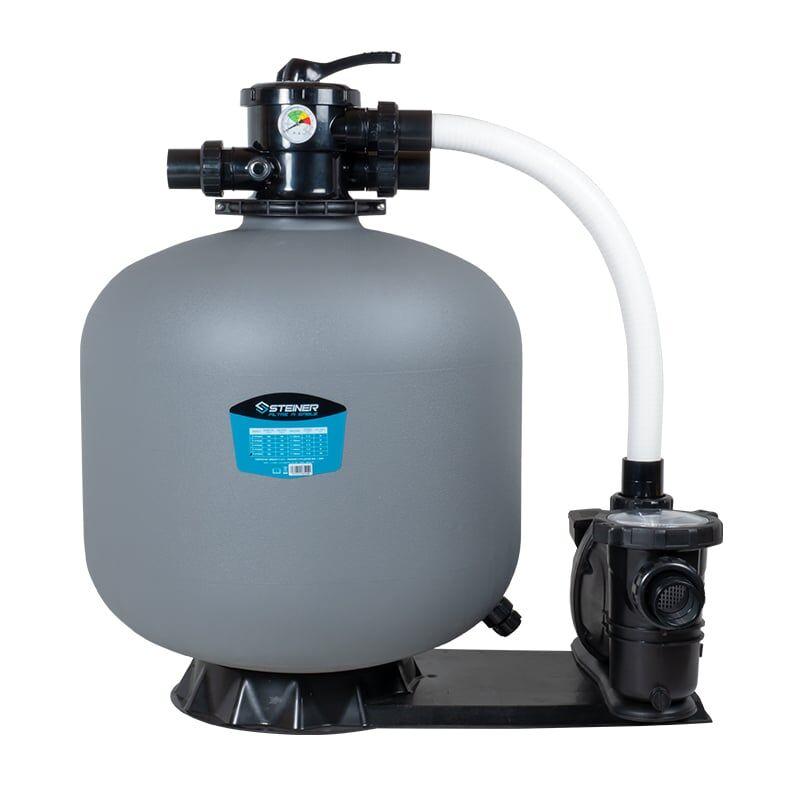 Groupe de filtration 1.2CV 20m³/h Ø635mm vanne Top 6 voies STEINER