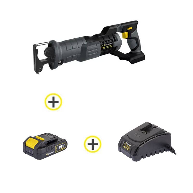 False Pack sans fil 18V Scie Sabre + 1 Batterie + 1 Chargeur STEINER