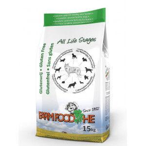 Farm Food HE Sans Gluten pour chien 2 x 15 kg + Gratuit Farm Food Fresh Menu boeuf Pâtée