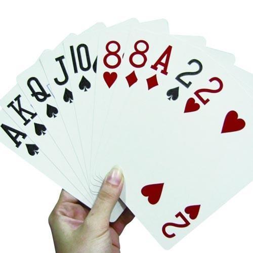 Careserve Cartes à jouer surdimensionnées - Lot de 2