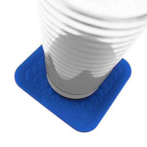 TENURA Sous-verres Tenura - Pack de 4 - Bleu