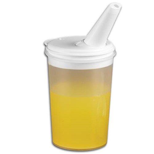 Careserve Verre avec couvercle bec verseur ajustable - boisson - Lot de 6
