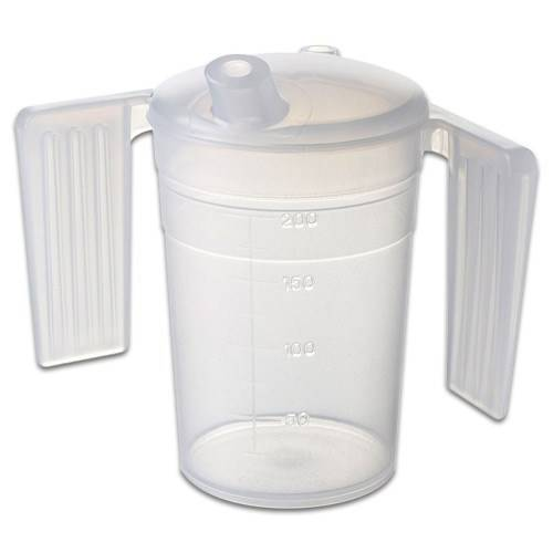 Careserve Verre doseur en plastique avec poignées - Boissons - Lot de 10