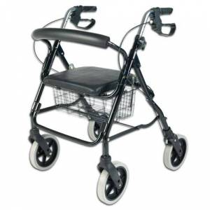 NRS Déambulateur pliable 4 roues avec siège - Publicité