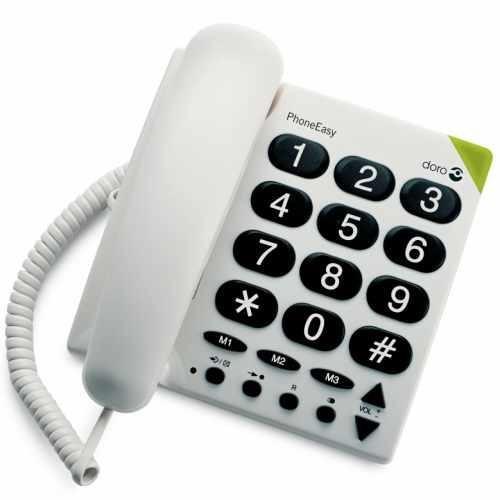 Careserve Téléphone à grosses touches PhoneEasy Doro 311C