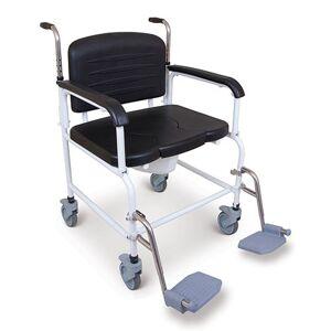 NRS Chaise percée bariatrique à roulettes - Publicité